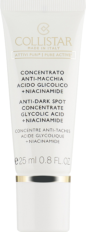 Anti-Wrinkle Concentrate from Age Spots - Collistar Anti-Dark Spot Concentrate Glycolic Acid/Niacinamide