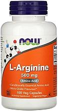 """Fragrances, Perfumes, Cosmetics Amino Acid """"L-Arginine"""", 500 mg - Now Foods L-Arginine Veg Capsules"""