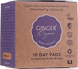 Fragrances, Perfumes, Cosmetics Daytime Sanitary Napkins, 10 pcs - Ginger Organic