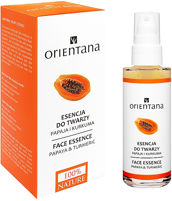 Face Essence-Mask - Orientana Bio Essence-Mask Papaya & Turmeric