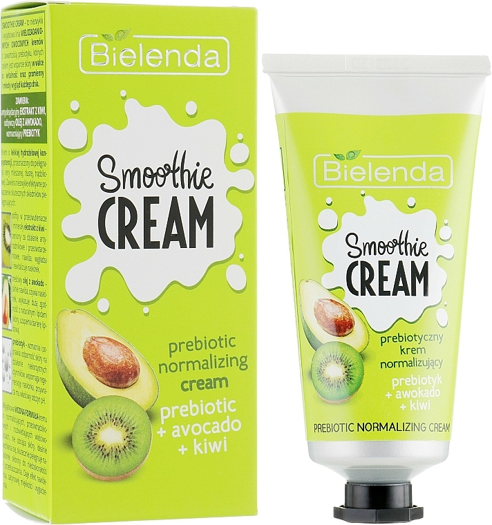"Normalizing Face Cream ""Avocado and Kiwi"" - Bielenda Smoothie Cream Avocado And Kiwi"