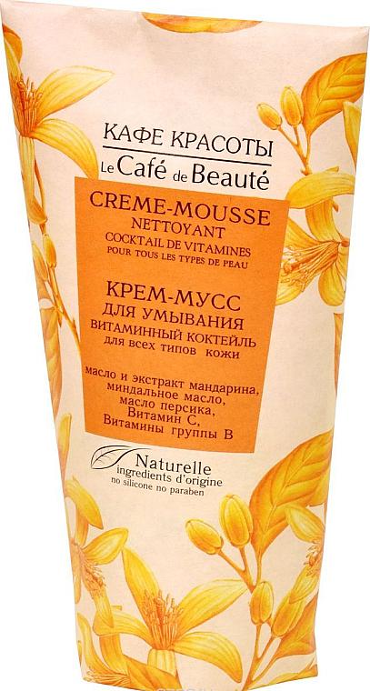 "Wash Cream-Mousse ""Vitamin Cocktail"" for All Skin Types - Le Cafe de Beaute Vitamin Cream-Mousse"