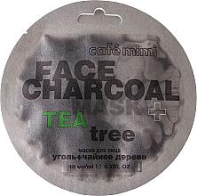 "Fragrances, Perfumes, Cosmetics Face Mask ""Charcoal & Tea Tree"" - Cafe Mimi Charkoal & Tea Tree Face Mask"