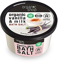 "Fragrances, Perfumes, Cosmetics Bath Salt ""Vanilla Milk"" - Organic Shop Baths Salt Organic Vanilla & Milk"