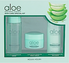 Fragrances, Perfumes, Cosmetics Set - Holika Holika Aloe (toner/50ml + emulsion/50ml + cr/20ml)