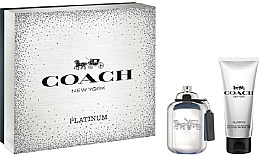 Fragrances, Perfumes, Cosmetics Coach Platinum - Set (edp/60ml + sh/gel/100ml)