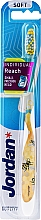 Fragrances, Perfumes, Cosmetics Soft Toothbrush with Cap, yellow with bee - Jordan Individual Reach Soft