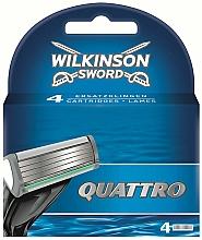 Fragrances, Perfumes, Cosmetics Replacement Cartridges, 4pcs - Wilkinson Sword Quattro Cartridge Razor Blades