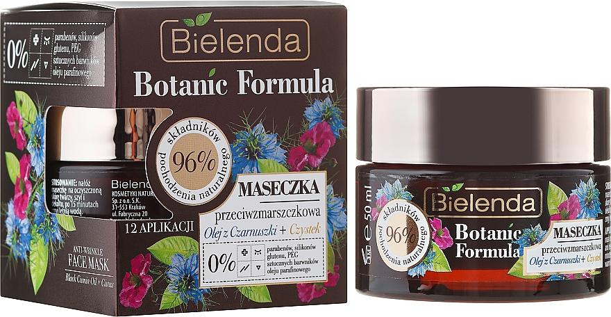 Face Mask - Bielenda Botanic Formula Black Seed Oil + Cistus Anti-Wrinkle Face Mask