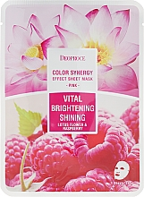 Fragrances, Perfumes, Cosmetics Lotus and Raspberry Face Sheet Mask - Deoproce Color Synergy Effect Sheet Mask Pink