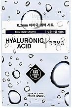 Fragrances, Perfumes, Cosmetics Ultra Thin Hyaluronic Acid Face Mask - Etude House Therapy Air Mask Hyaluronic Acid