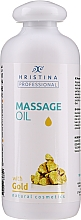 Fragrances, Perfumes, Cosmetics Gold Massage Oil - Hristina Professional Gold Massage Oil