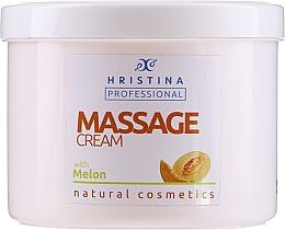 Fragrances, Perfumes, Cosmetics Massage Melon Cream - Hristina Professional Massage Cream With Melon