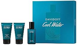 Fragrances, Perfumes, Cosmetics Davidoff Cool Water - Set (edt/40 ml + sh/gel/50 ml + ash/balm/50 ml)