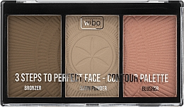 Fragrances, Perfumes, Cosmetics Contour Palette - Wibo 3 Steps To Perfect Face Contour Palette New Edition