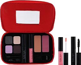 Fragrances, Perfumes, Cosmetics Makeup Travel Set - Nouba Make Up Travel Kit (eyeshadows/7,2g + bronzing powder/3g + mascara/5 ml + lip gloss/4,5 ml + f/blush/3g + brush/1pc)