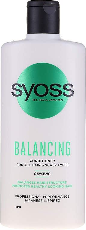 Ginseng Conditioner for All Hair & Scalp Types - Syoss Balancing Ginseng Conditioner