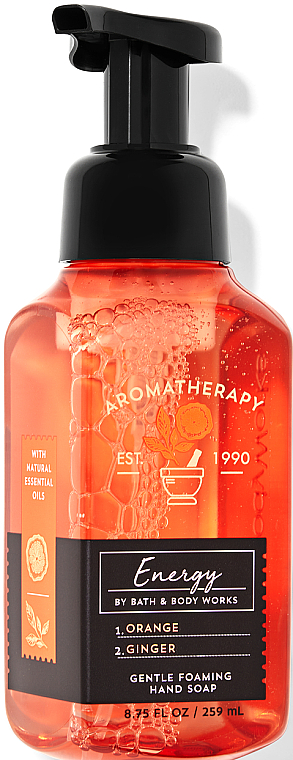 Foaming Hand Soap - Bath and Body Works Aromatherapy Orange Ginger Gentle Foaming Hand Soap — photo N1