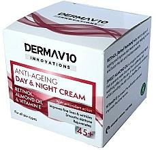 Fragrances, Perfumes, Cosmetics Retinol Cream - Derma V10 Innovations Anti Ageing Day & Night Cream 45+
