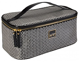 Fragrances, Perfumes, Cosmetics Makeup Bag - Auri Simple Black & White
