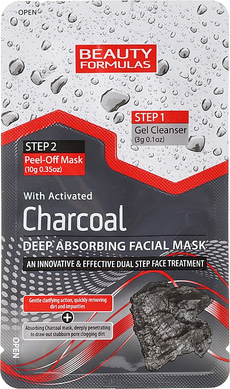 Charcoal Peel Off Face Mask - Beauty Formulas Charcoal Absorbing Face Mask