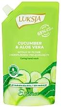 "Fragrances, Perfumes, Cosmetics Liquid Cream Soap ""Cucumber & Aloe"" - Luksja Cucumber & Aloe Soap (doypack)"