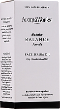 Fragrances, Perfumes, Cosmetics Face Serum - AromaWorks Balance Face Serum Oil
