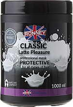 Fragrances, Perfumes, Cosmetics Hair Mask - Ronney Mask Classic Latte Pleasure Protective