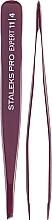 Fragrances, Perfumes, Cosmetics Eyebrow Tweezers, TE-11/4 - Staleks Pro
