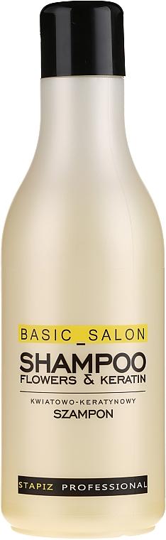 """Hair Shampoo """"Flower & Keratin"""" - Stapiz Basic Salon Shampoo Flowers&Keratin"""