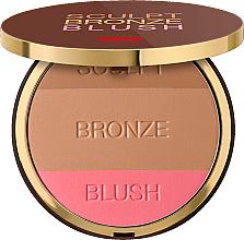 Fragrances, Perfumes, Cosmetics Compact Powder 3in1 - Pupa Sculpt Bronze Blush