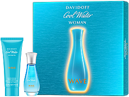 Fragrances, Perfumes, Cosmetics Davidoff Cool Water Wave Woman 2018 - Set (edt/30ml + b/lot/75ml)