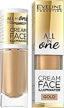 Fragrances, Perfumes, Cosmetics Creamy Highlighter - Eveline Cosmetics All In One Cream Face Illuminator