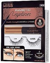 Fragrances, Perfumes, Cosmetics Set - Kiss Magnetic Eyeliner & Lash Kit Lure (eyeliner/5g + lashes)