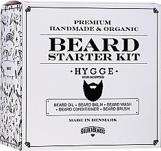 Fragrances, Perfumes, Cosmetics Set - Golden Beards Starter Beard Kit Hygge (balm/60ml + oil/30ml + shm/100ml + cond/100ml + brush)