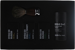 Fragrances, Perfumes, Cosmetics Set - Zew Barber's Holiday Set (soap/4x85ml + brush)