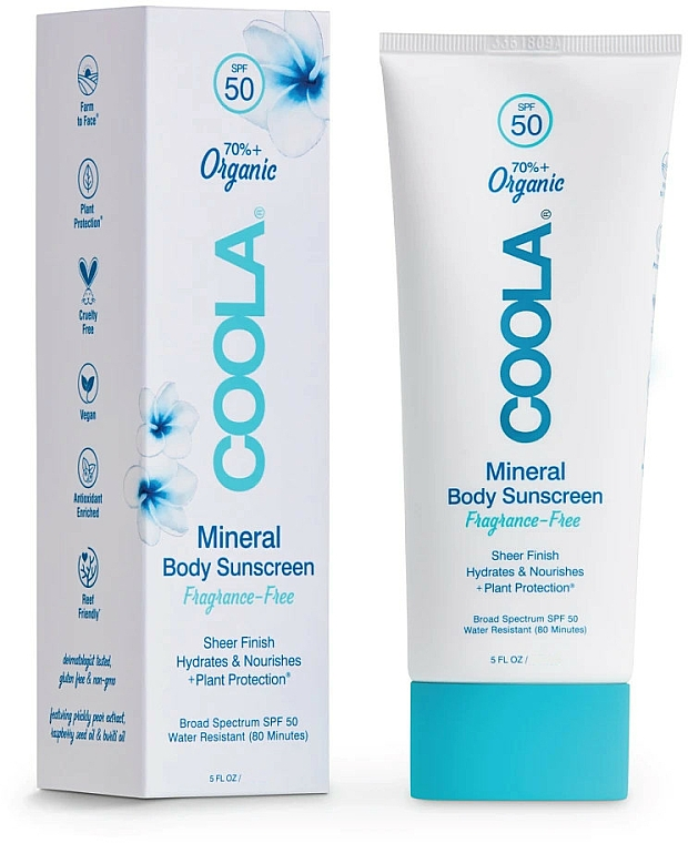 Sun Body Lotion - Coola Mineral Body Organic Sunscreen Lotion SPF 50 — photo N1