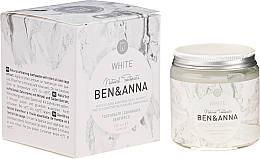 Fragrances, Perfumes, Cosmetics Natural Toothpaste - Ben & Anna Natural White Toothpaste