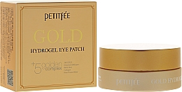 Fragrances, Perfumes, Cosmetics Hydrogel Eye Patches with Golden Complex +5 - Petitfee&Koelf Gold Hydrogel Eye Patch