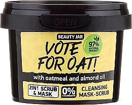 Fragrances, Perfumes, Cosmetics Cleansing Mask-Scrub - Beauty Jar Vote For Oat! Cleansing Mask-Scrub