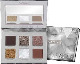 Fragrances, Perfumes, Cosmetics Eyeshadow Palette - Nabla Cutie Collection Palette Platinum