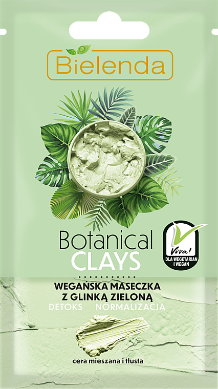 Mask for Combination, Oily Skin, with Green Clay - Bielenda Botanical Clays