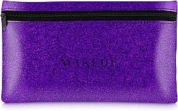 "Fragrances, Perfumes, Cosmetics Silicone Makeup Bag, purple ""Glitter Pouch"", 22x13cm - MakeUp"