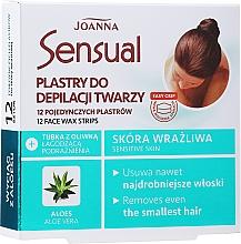 Fragrances, Perfumes, Cosmetics Depilatory Wax Face Strips with Aloe Extract - Joanna Sensual Depilatory Face Strips
