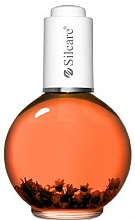 "Fragrances, Perfumes, Cosmetics Nail and Cuticle Oil with Flowers ""Orange"" - Silcare Cuticle Oil Rubin Orange"