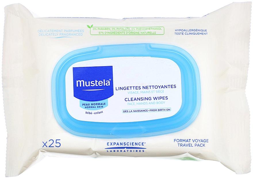 Set - Mustela With Love Pink (wipes/25szt + b/gel/200ml + cr/50ml + bag) — photo N2