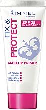 Fragrances, Perfumes, Cosmetics Face Primer - Rimmel Fix & Protect Makeup Primer SPF25