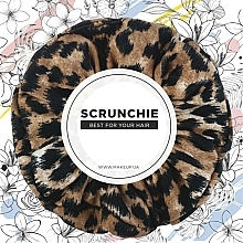 """Fragrances, Perfumes, Cosmetics Knit Elastic Hair Band, red leopard """"Knit Fashion Classic"""" - MakeUp Hair Accessories"""