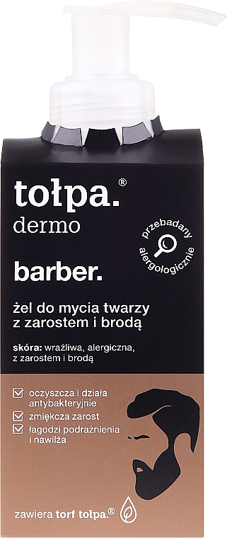 Face and Beard Gel - Tolpa Dermo Man Facial and Beard Gel Wash