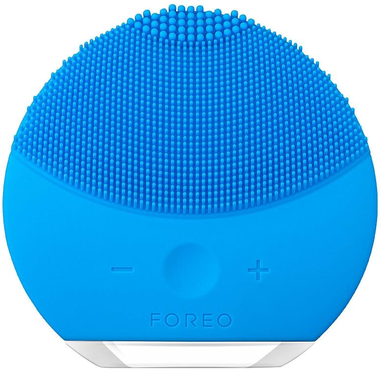 Intensity-Adjustable Cleaning and Spa-Massage Brush - Foreo Luna Mini 2 Aquamarine